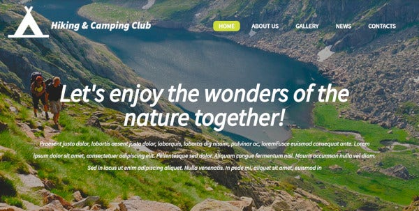 hiking camping club wpml compatible wordpress theme