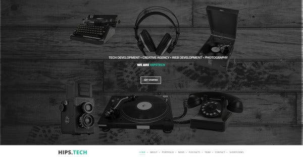 Hipstech – Custom WordPress Theme