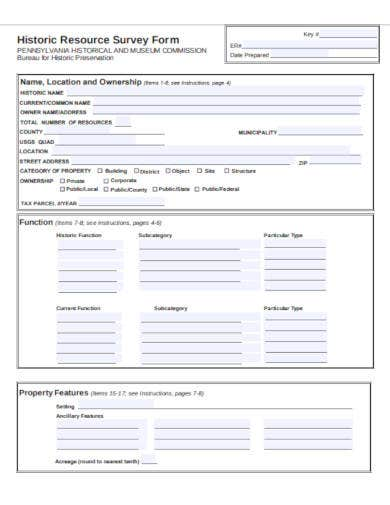 historic resource survey form