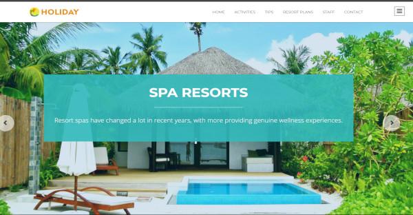 holiday – responsive wordpress theme