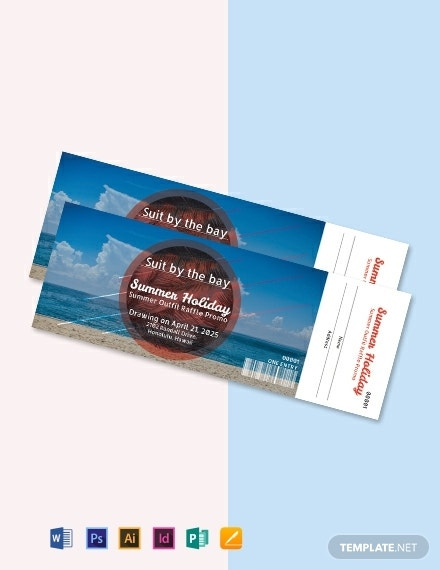 holiday raffle ticket template1