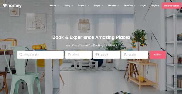 Homey - customized WordPress Theme