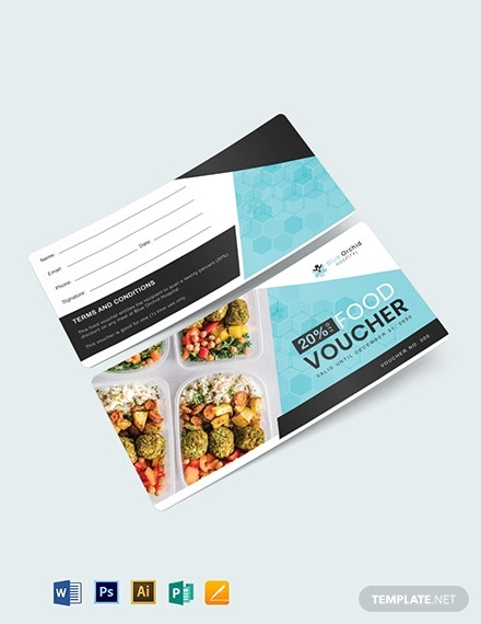 hospital food gift voucher layout
