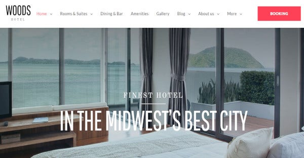 Hotel & Resort - Multiple layers WordPress Theme