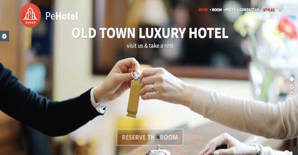 Hotel & Resort - One click Demo Content WordPress Theme