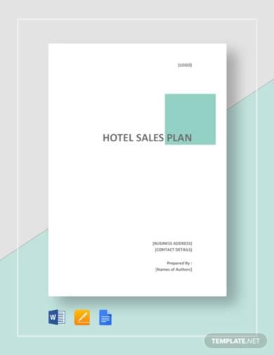 hotel sales plan template