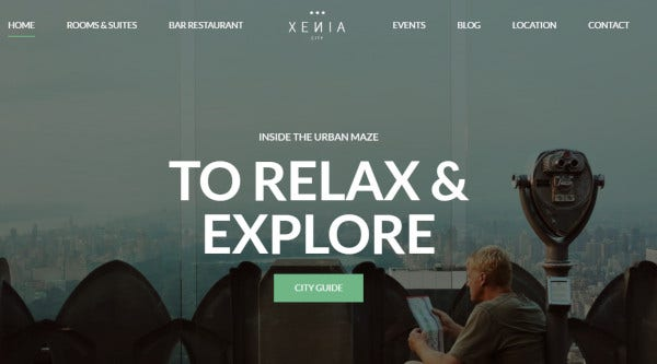 hotel xenia – responsive wordpress theme1