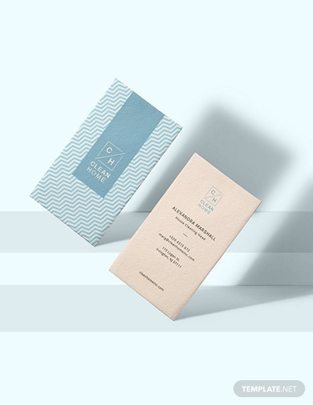 house cleaning business card example