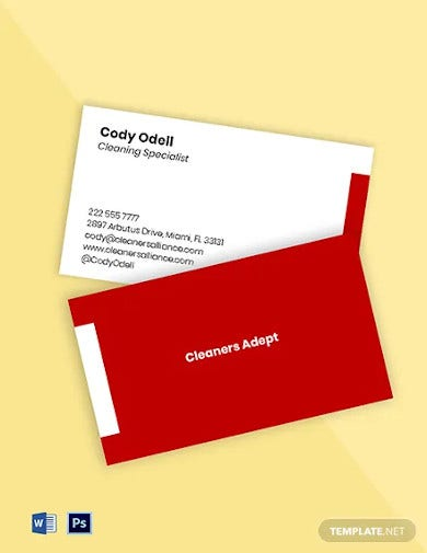 house cleaning maid services business card