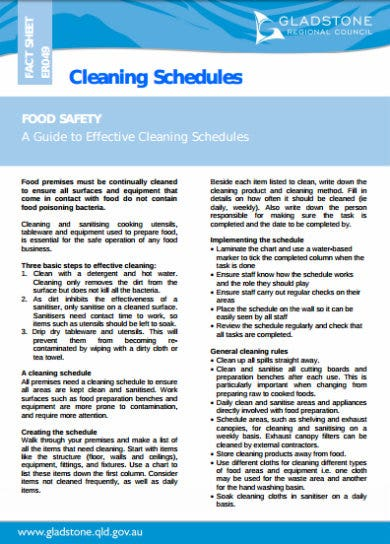 house cleaning schedule guide