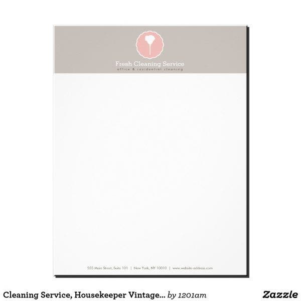 housekeeping cleaning service letterhead layout e1555760274683