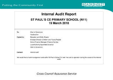 internal audit report st pauls ce primary school 01