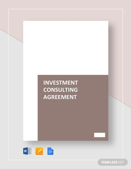 Simple Investment Consulting Agreement Template