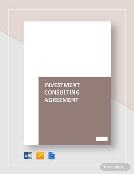 investment consulting agreement template1