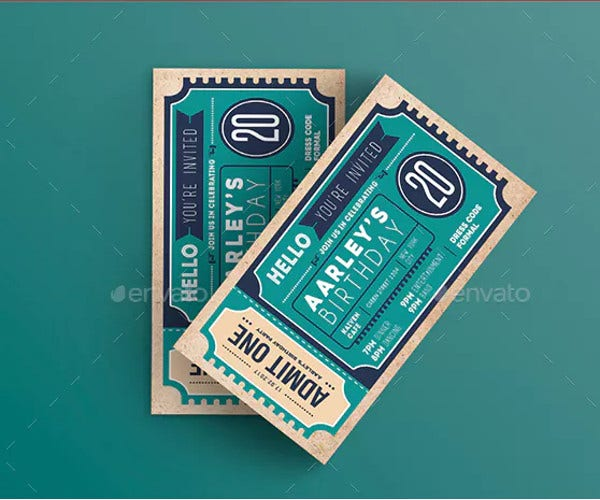 invitation ticket example template
