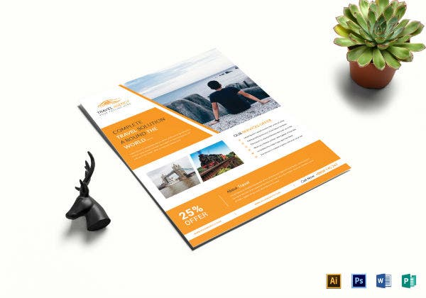 island travel flyer template