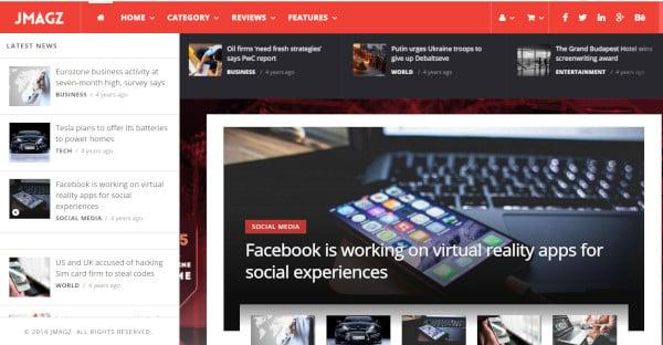 JMagz - 140 Homepages WordPress Theme