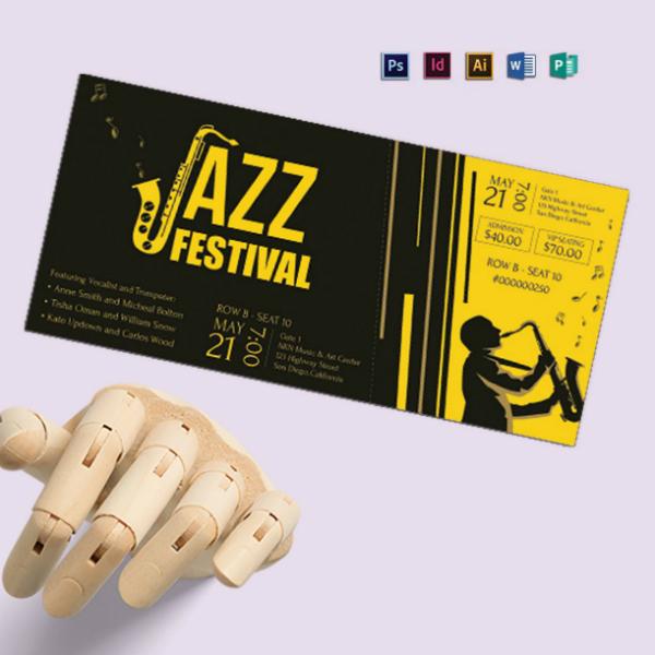 jazz music festival ticket format