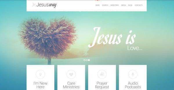 jesus way wordpress theme