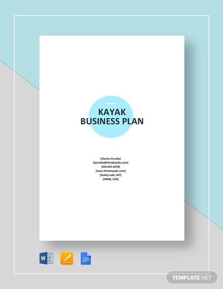 kayak business plan template