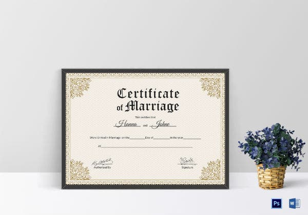 keepsake wedding certificate template