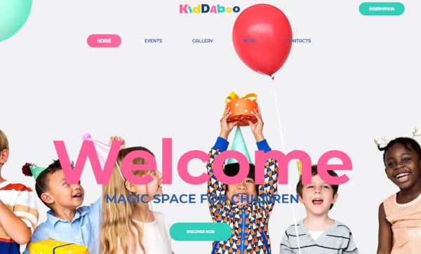 kiddaboo drag and drop page builder wordpress theme