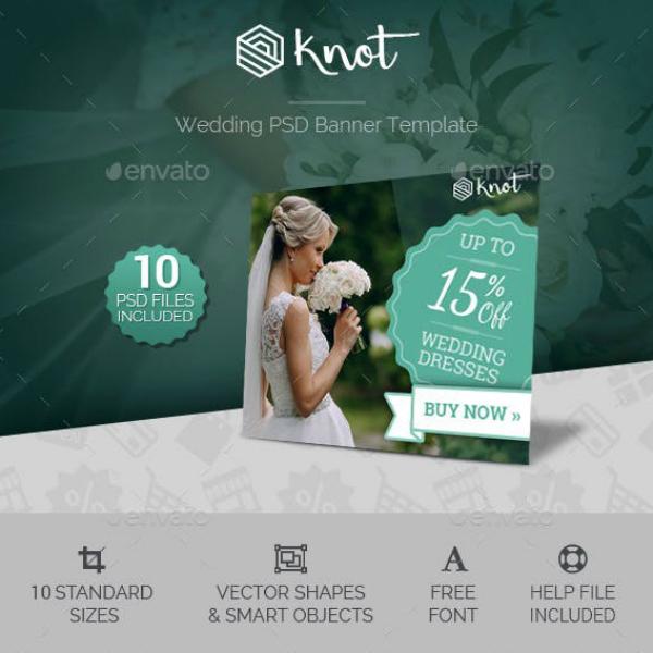 knot wedding banner photoshop design