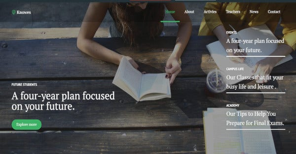 knowes elementor page builder wordpress theme