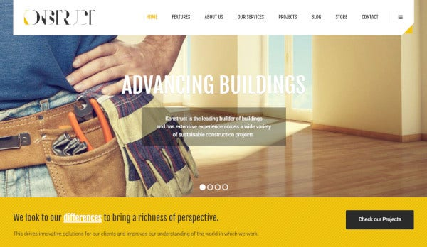 konstruct easy installation setup wordpress theme