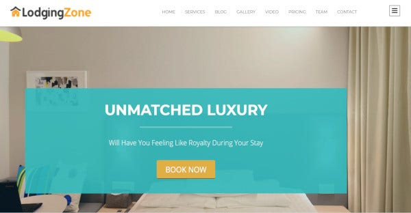 LODGING ZONE - Visual Composer WordPress Theme