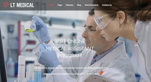lt medical mobile friendly wordpress theme