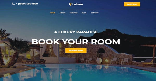 Lairom - Mobile friendly WordPress Theme