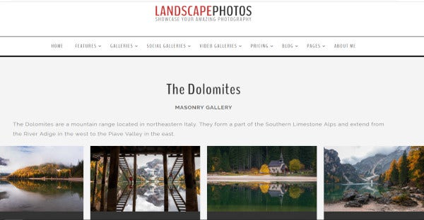 Landscapephotos – Customer Friendly WordPress Theme