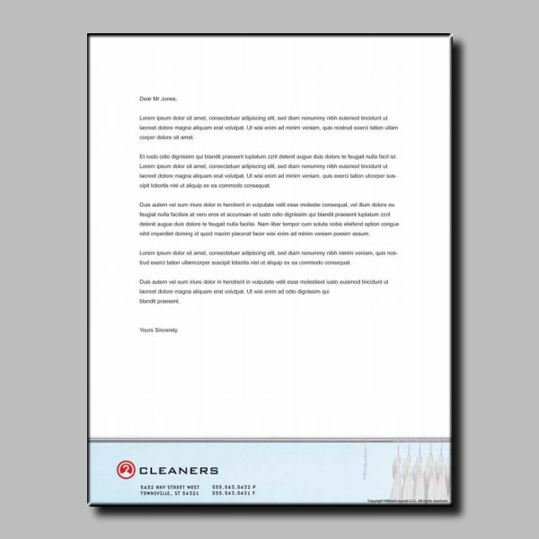 laundry cleaners business letterhead template