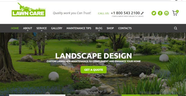 Lawn Care – Responsive WordPress Theme