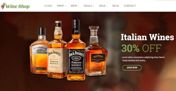 leo wine store bootstrap megamenu wordpress theme