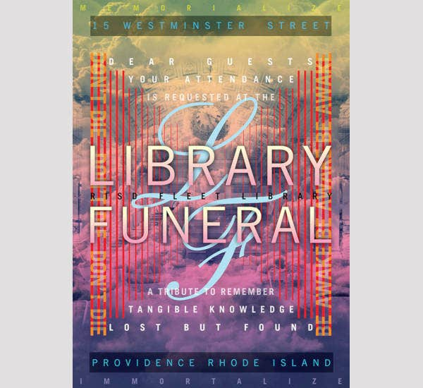 Library Funeral Poster Example