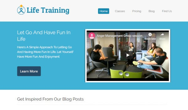 life training – mobile friendly wordpress theme