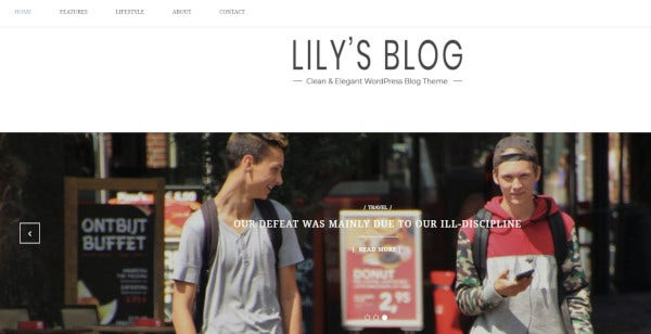 lily bootstrap supported wordpress theme