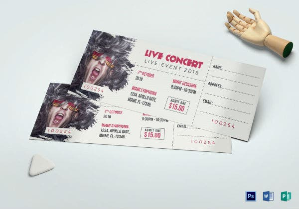 live concert ticket template