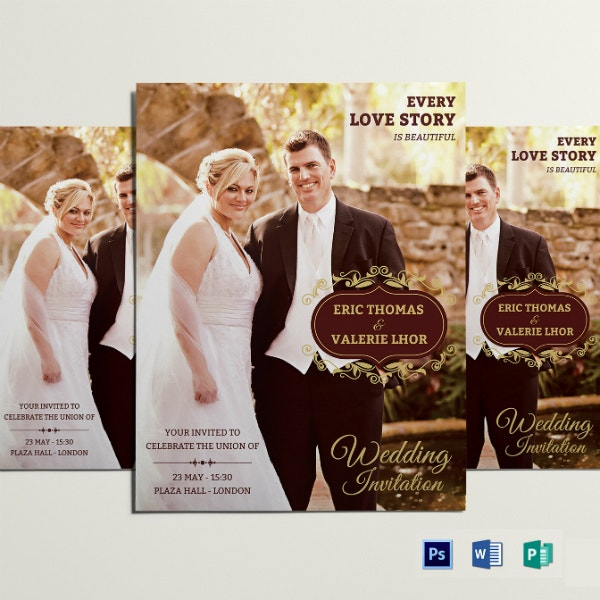 love story wedding flyer example