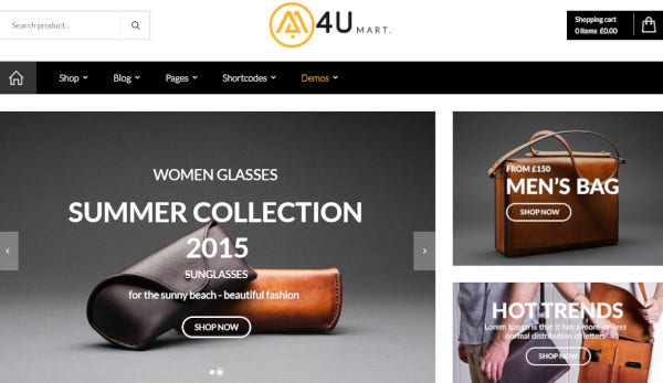 m4u ajax supported wordpress theme