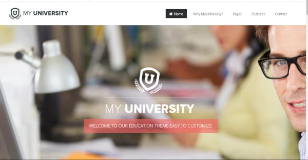 my university seo friendly wordpress theme
