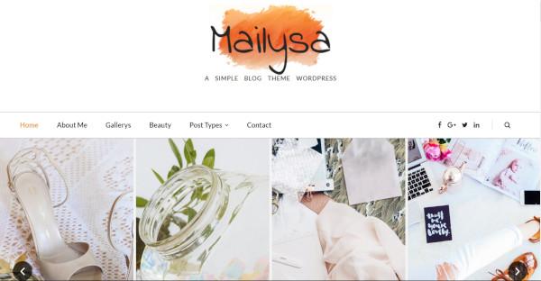 mailysa – custom wordpress theme