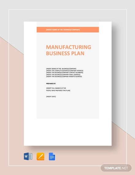 Manufacturing Business Plan Templates 15 Free Word Pdf