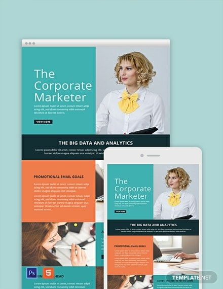 marketing email newsletter template