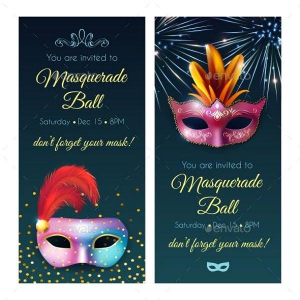 masquerade ball invitation banner template