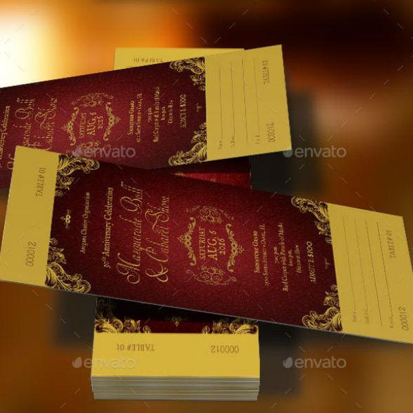 masquerade ball invitation ticket template