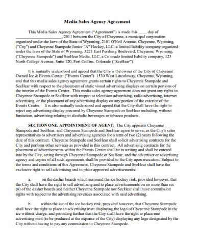 media sales agency agreement