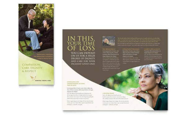 memorial funeral program brochure
